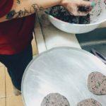 produção dos hamburgueres de feijão preto